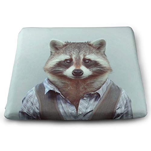 Excellent Support & Comfort Memory Foam Seat Cushion Soft Cool Cushion, Luxury Office Car Sitting Pregnancy Travel Driving Seat Cushion, (Animals Dressed Like -