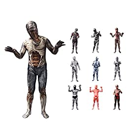 - 41TFP8YX3TL - 3D Printing Spandex Zentai Full Bodysuit Halloween Costumes for Adults and Kids