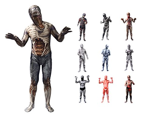 Zombie+Costumes Products : Sheface 3D Printing Spandex Zentai Full Bodysuit Halloween Costumes for Adults and Kids
