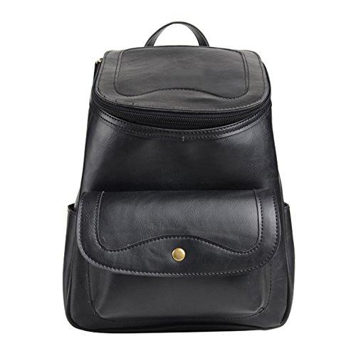 Tear Drop Women's Sling Leather Black Backpack Convertible Yiji CvSxI