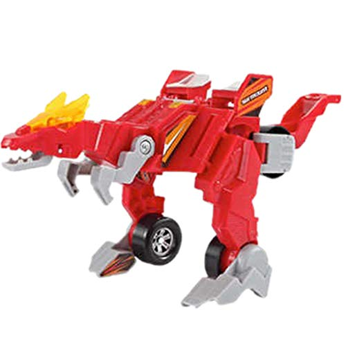 Price comparison product image Amaping Transforming Dinosaur Robot Truck 2 in 1 Action Figure,  Creative Anime Figurine Kids Toy Car (Red)