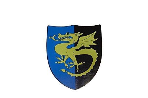 Juguetutto - Escudo dragón dorado - Juguete de madera