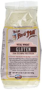 Bob's Red Mill Vital Wheat Gluten Flour, 22 Ounce (Pack of 4)