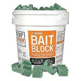 JT Eaton 166004 709-PN Bait Block Rodenticide Anticoagulant Bait, Peanut Butter Flavor, for Mice and Rats (9 lb Pail of 144) (1 Pail)