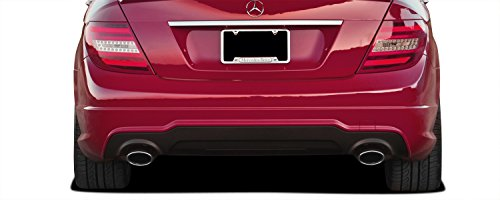 C63 V2 Look Rear Bumper Cover (without PDC) - 2 Piece Body Kit - Fits Mercedes C Class 2008-2014