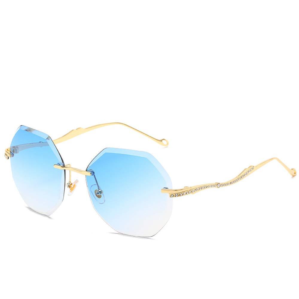 Gafas gafas de sol sin marco de moda sección estrella ...
