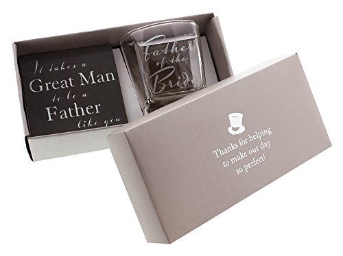 Groom Coaster Set - Father of the Bride Whiskey Glass and Coaster Gift Set By Haysom Interiors