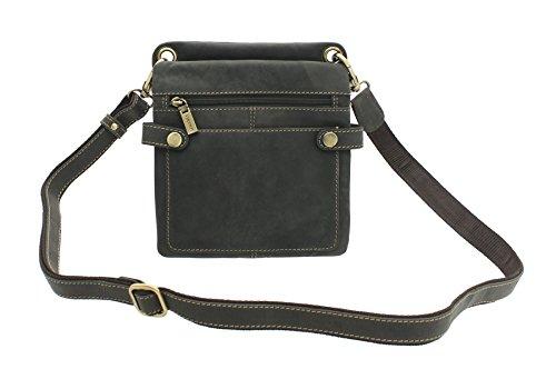 Visconti - Bolso al hombro de cuero para mujer, color marrón, talla One Size Fits All marrón - Mud