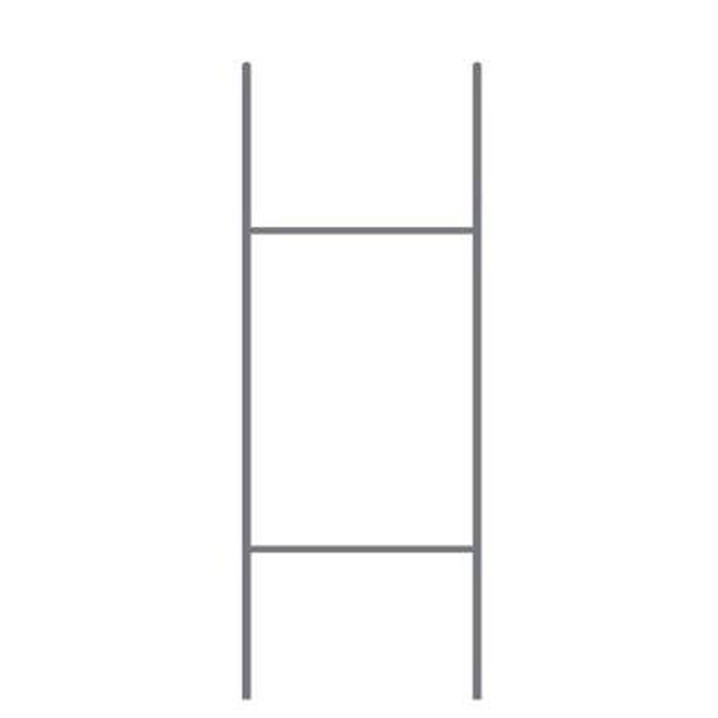 VictoryStore Standard H Frame Wire Stakes 10'' x30'' Pkg of 50 - Yard Sign Stake - Use with 4mm Corrugated Signs