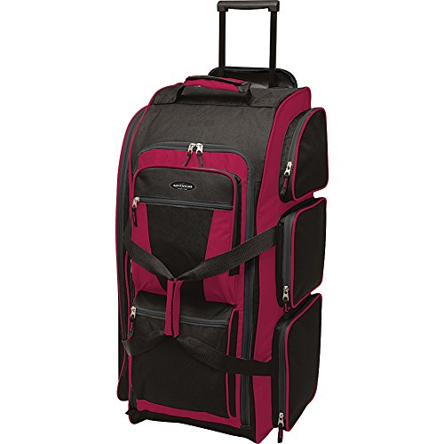 """Travelers Club Luggage 30"""" Xpedition Multi-Pocket Rolling Duffel- Exclusive"""