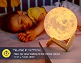 AED Moon Lamp with Stand, Touch & Remote