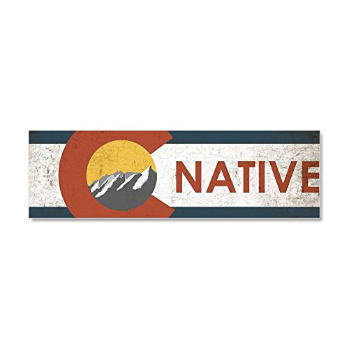 CafePress - Colorado Native Red Car Magnet 10 - Colorado Native