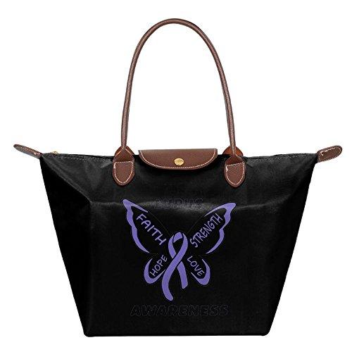 Mkajkkok Lupus Awareness Butterfly Fashion Ladies Folding Dumpling Bags For Sale