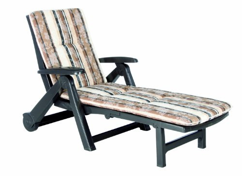 BEST 96401711 Rollliege Charleston inklusive Auflage, D.1017, braun
