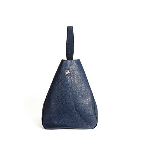 KAMIERFA Damen Kunstleder Schultertaschen Umhängetasche Shopper Elegant Groß für Tourism Tägliche Arbeit Blau aeuda7Dek2