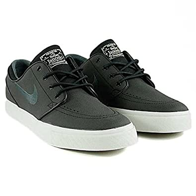 half off bc24c 71f62 Nike Sb Zoom Stefan Janoski Leather Black Anthracite Light Brown Skate Shoes  Size  Amazon.co.uk  Shoes   Bags