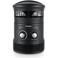 Pelonis Space Heater Small Place Indoor Portable with Thermostat 360° Surround Silent Black