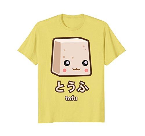 Mens Tofu T-Shirt Large Lemon