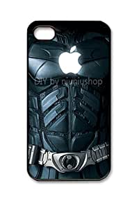 niuniushop iphone 4 case Cool creative Awesome Black Batman with apple logo Design iphone 4s cases