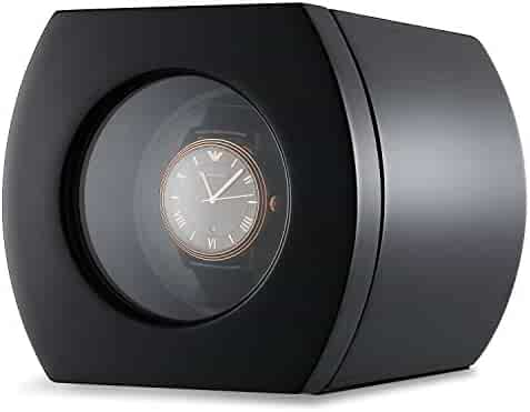 CHIYODA Automatic Single Watch Winder with Quiet Motor - Piano Black