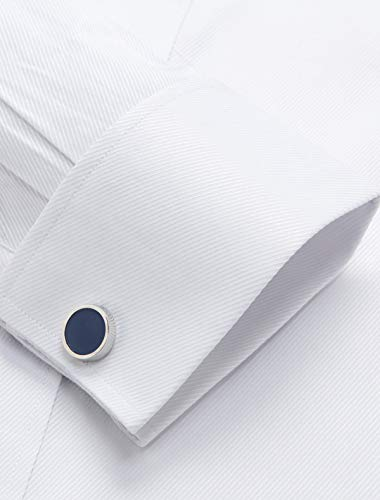 4037230f70f Alimens   Gentle French Cuff Regular Fit Dress Shirts (Cufflink Included)  (18