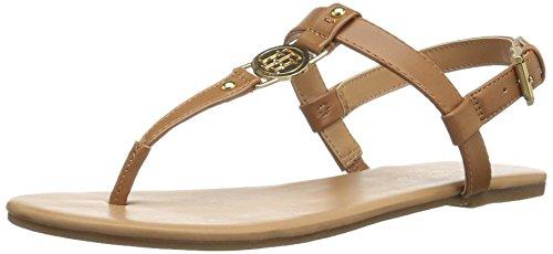 Tommy Hilfiger Women's Loreo Flat Sandal, Cognac, 7 Medium (Tommy Hilfiger Shoes Woman)