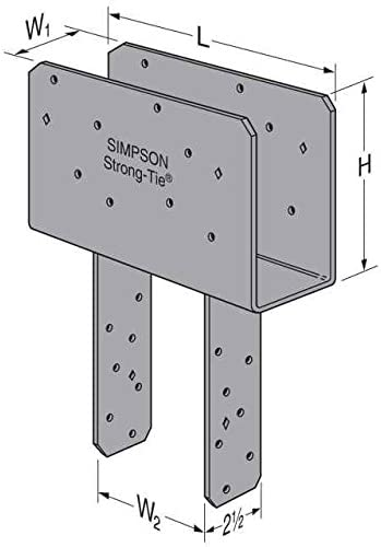 Simpson Strong Tie CCQ44-SDS2.5HDG Beam 4X Post HDG SDS