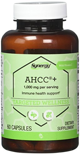 Vitacost Synergy AHCC® + with Vitamin C -- 1000 mg per serving - 60 Capsules Nsi Liver