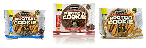 MuscleTech Soft Baked Whey Protein Cookies 3 Flavor Variety Pack(6 Cookies per order)