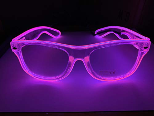 Moonideal LED Light Up Glasses Twinkling with Music Beats LED Sunglasses Party Supplies 4 Different Mode Lighting Controller -