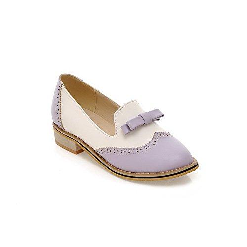 da Balamasa pompe scarpe basso colori tacco assortiti per Purple donna w6Hwfqg