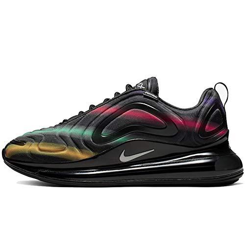 Nike Air Max 720 Mens Running Trainers AO2924 Sneakers Shoes (UK 12 US 13 EU 47.5, Black Metallic Silver 023)