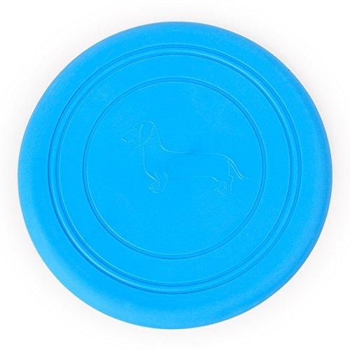 Cosanter Disco volador Frisbee platillo para niñ os mascotas perro, azul,1pcs