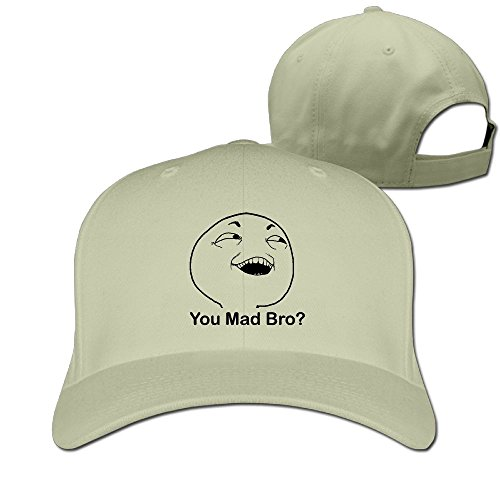 Troll Face Meme Costume (Sandwich Peaked Cap 100% Cotton Troll Face You Mad Bro Humor Smile Face Cap Adjustable Hip HopNew Design Cool Hat)