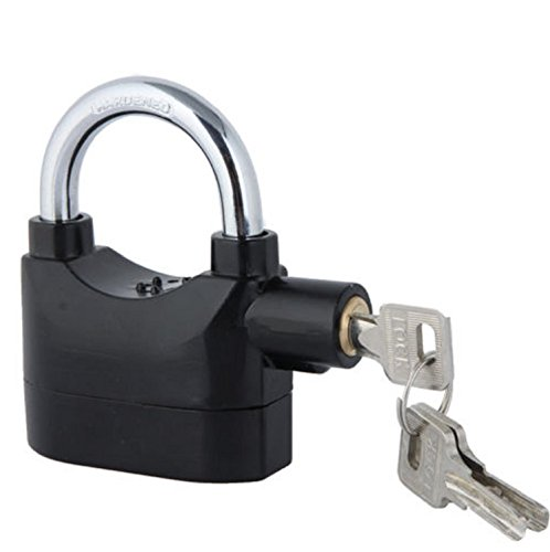LIKE SHOP Siren Alarm Lock Motion Sensor Padlock Bike Garden Shed Anti-Theft Lock