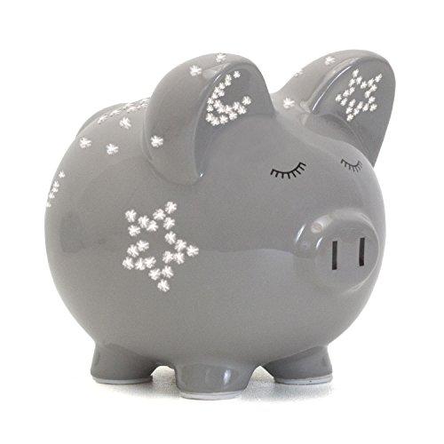 Child to Cherish Night Light Piggy Bank, Grey