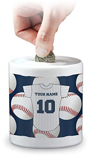 Personalized Baseball Bank - RNK Shops Baseball Jersey Coin Bank (Personalized)