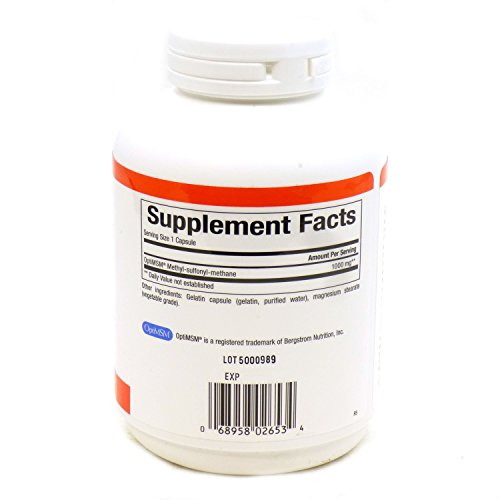 Natural Factors - MSM 1000mg, Supports Healthy Joint Function, 180 Capsules by Natural Factors (Image #1)