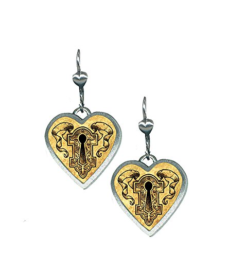 Classic Hardware Heartware Keyhole Dangle Earrings