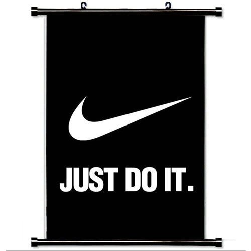Home Decor Art Hero Games Poster With Nike Just Do It Dark Simple Minimal
