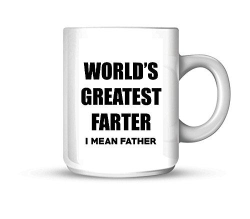 (Ceramic Worlds Greatest Farter I Mean Father 11oz Coffee Mug Cup)