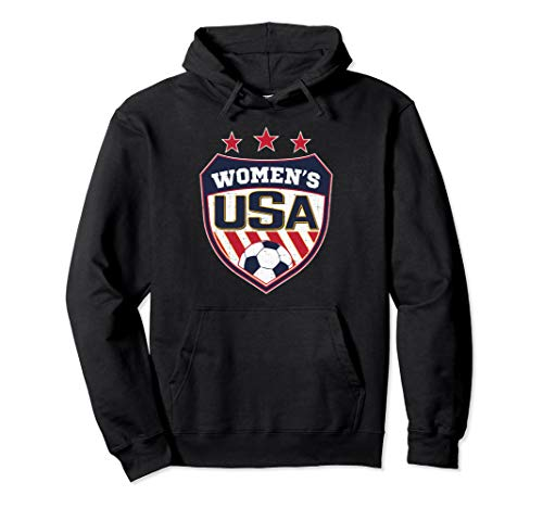 USA Distressed Soccer Hoodie for Women Wash and worn effect