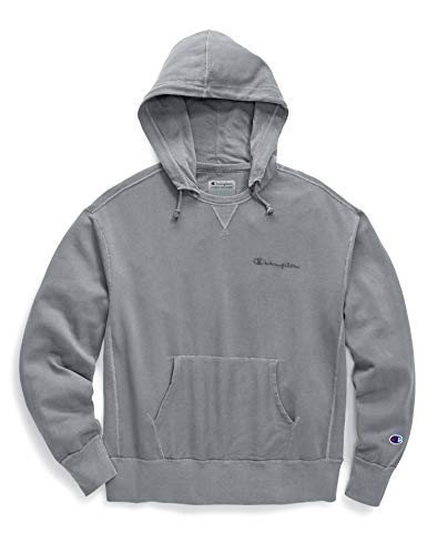 Champion Vintage Dye Fleece Hoodie, L, Concrete