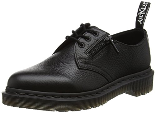 Dr. Martens Women's 1461 W/Zip Oxford Black Aunt Sally