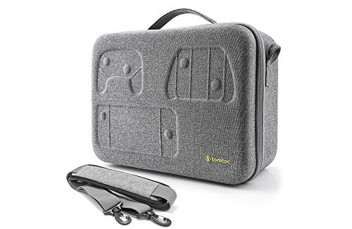Travel Storage Case Compatible with Nintendo Switch, tomtoc Portable Nintendo Switch Carrying-All Protective Hard Messenger Bag Soft Lining Large Pouch 32 Games for Switch Console & Accessories