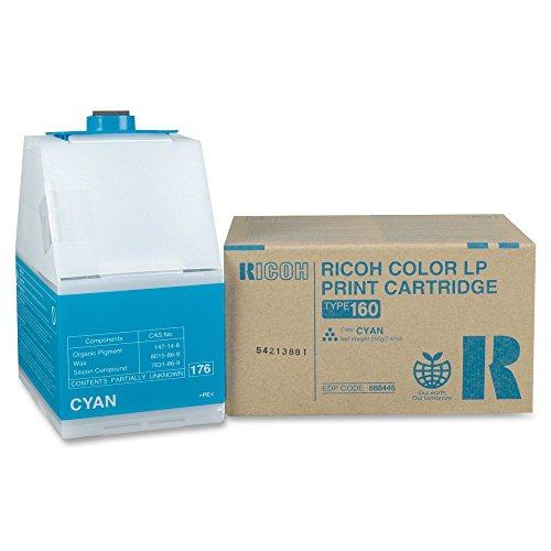 - Ricoh Type 160 Cyan 10,000 Page Yield Toner Cartridge for CL7200 and CL7300 888445