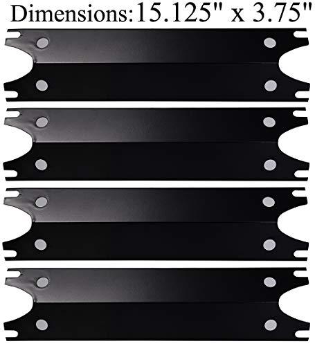 Votenli P9949A (4-Pack) Porcelain Steel Heat Plate Heat Shield for Brinkmann 810-2410-S, 810-2411-F, 810-2411-S, 810-3885-F, 810-3885-S, 810-4238-0, 810-9490-0(15.125 x 3.75)