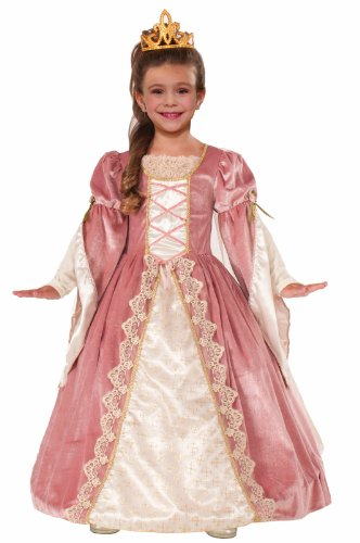 Forum Novelties Designer Collection Deluxe Victorian Rose Costume Dress, Child Large (Girls Victorian Dress)