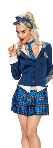 (Playboy 5th Avenue Prep Costume, Multi,)