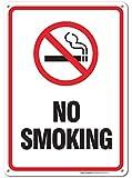 No Smoking Sign, Smoking Sign Legend 10 X 7 High Quality Rust Free 0.40 Aluminum Sign